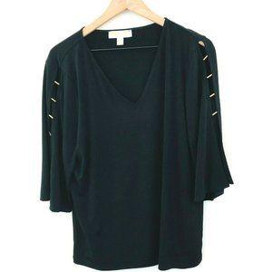Michael Kors V-Neck Cut Out Top Black XL
